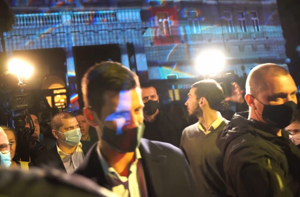 Novak Djokovic 4d Building Mapping